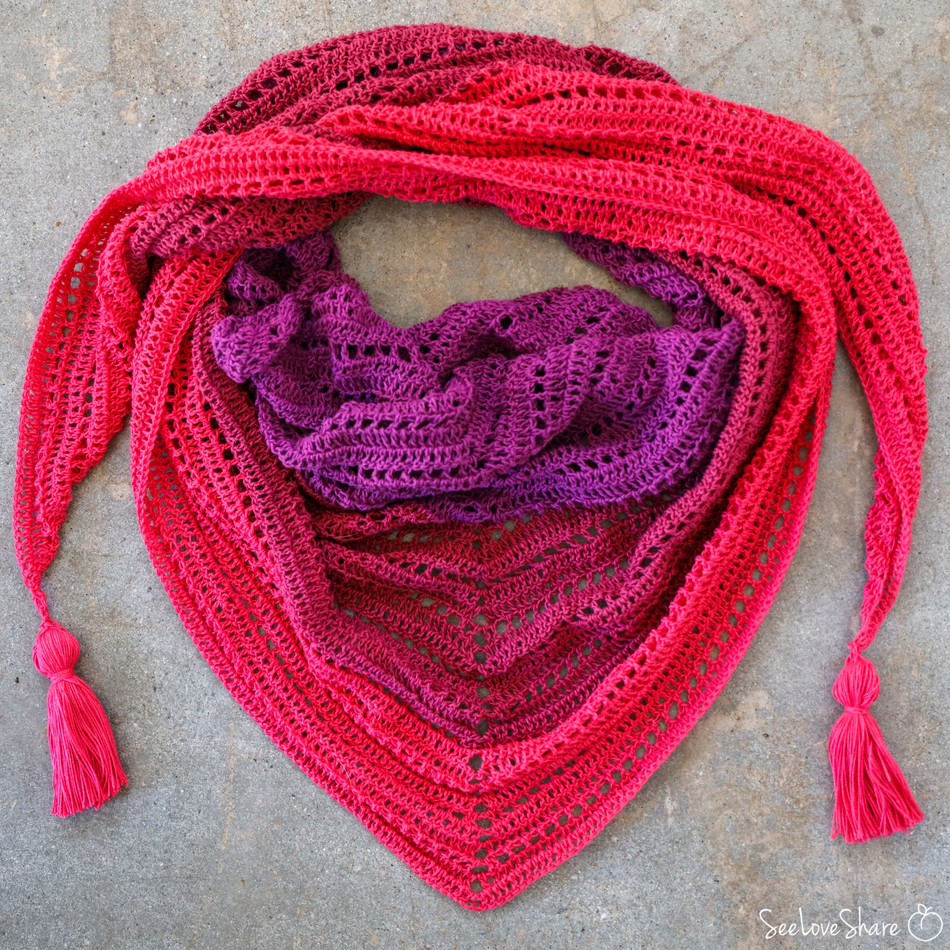 Made for Me Sweetheart Wrap - Free Crochet Pattern