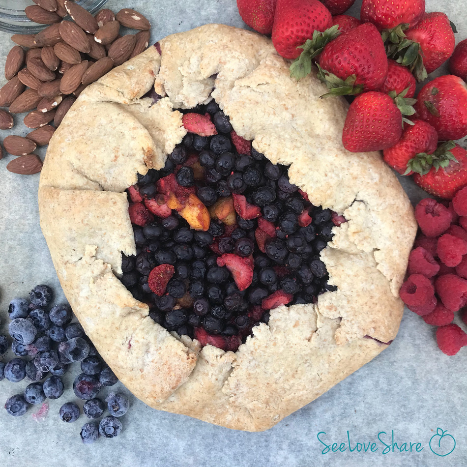 Rustic Almond Berry Tart (and  it's Gluten-Free!!)