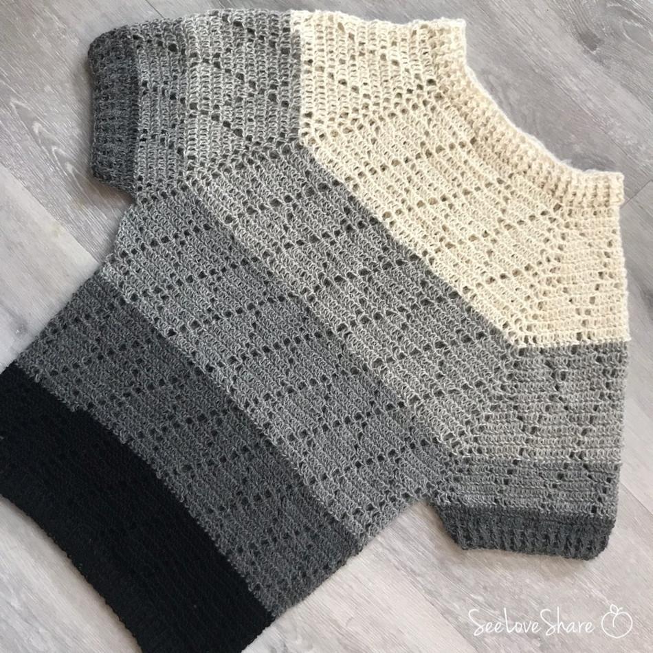 Diamond Double-Crochet Sweater