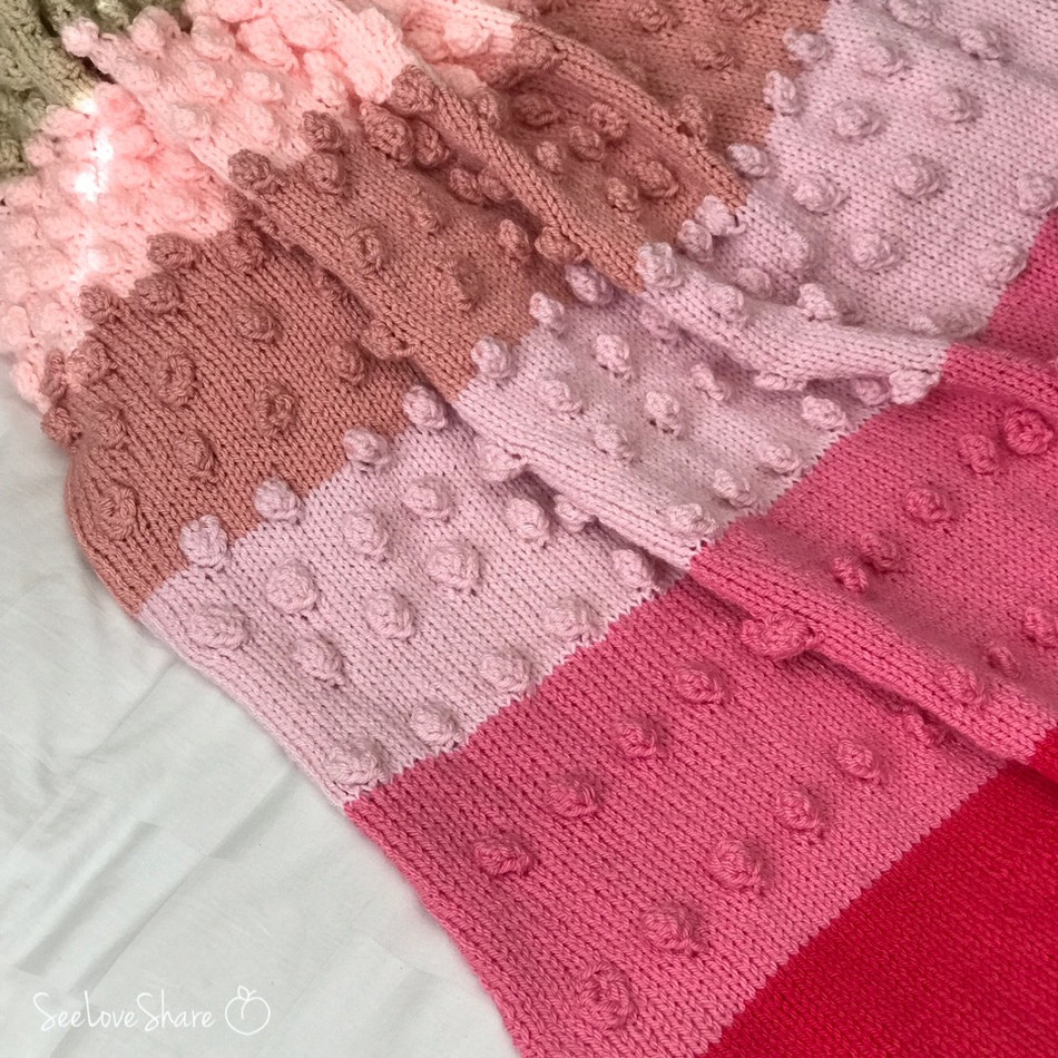 All the Bobbles Baby Blanket