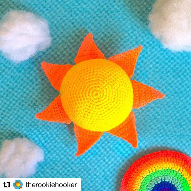 crochet summer sun doll