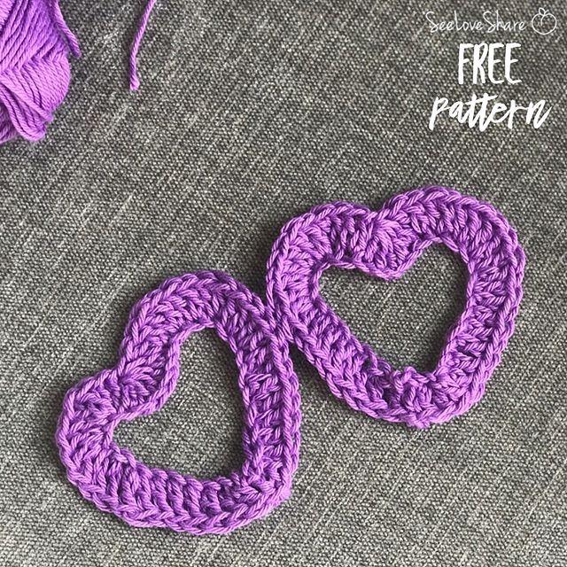 Crochet Heart Embellishment (Beginner) - Free Crochet Pattern