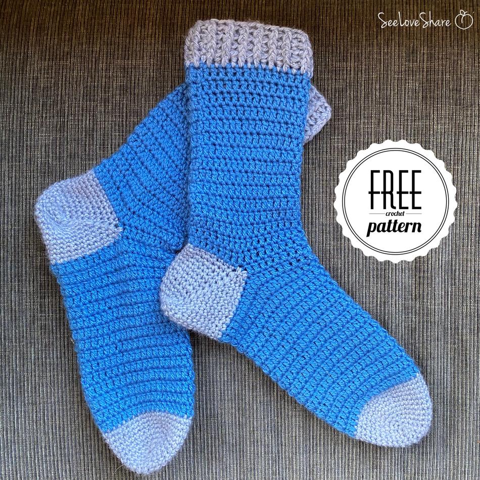 Cabin Socks - Free Crochet Pattern