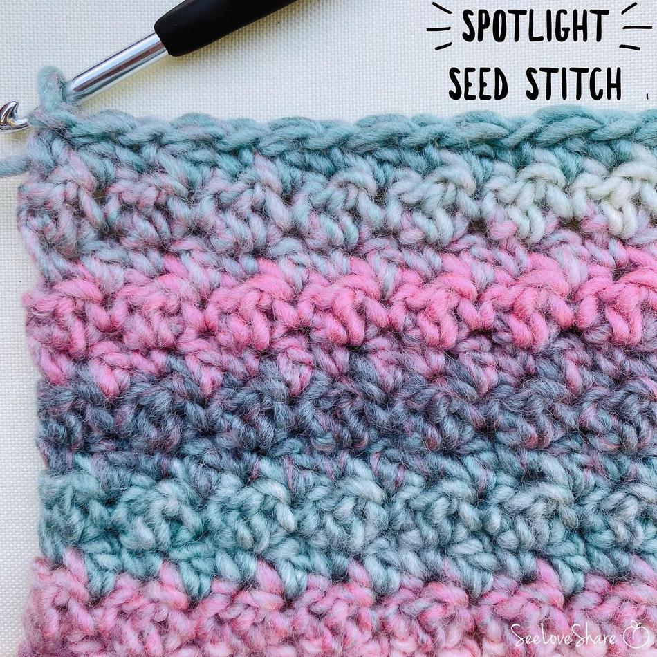 Spotlight Stitch: Seed Stitch