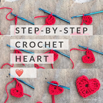 Step-By-Step Crochet Heart