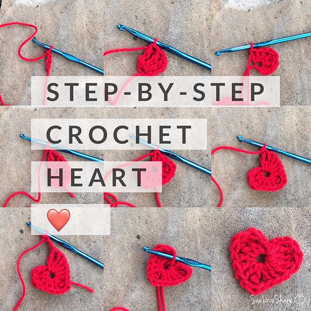 Step-By-Step Crochet Heart