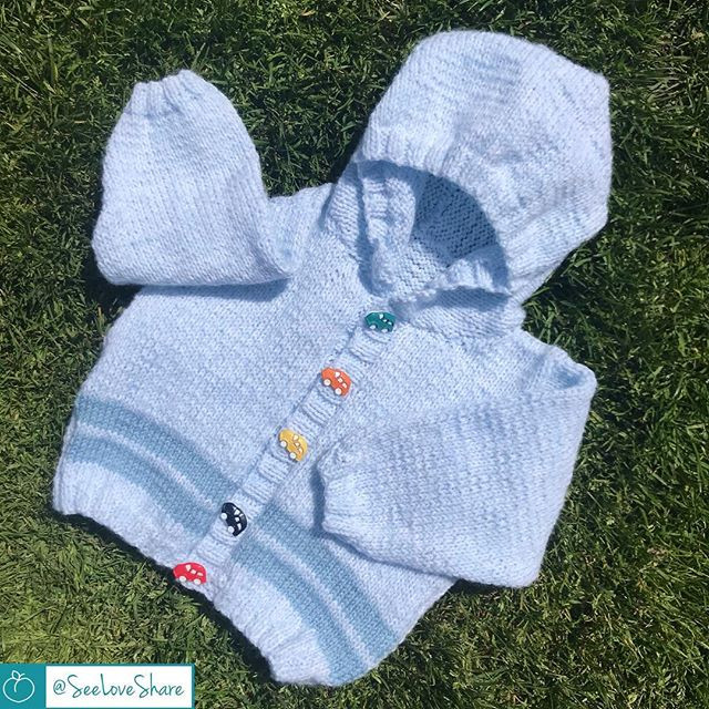 Knit Double Stripe Summer Baby Hoodie