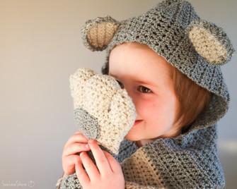 Bear Hugs Hood & Scarf - Free Crochet Pattern