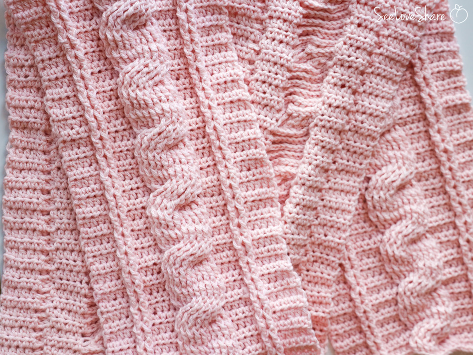 Rustic Crochet Cable Scarf - Free Crochet Pattern
