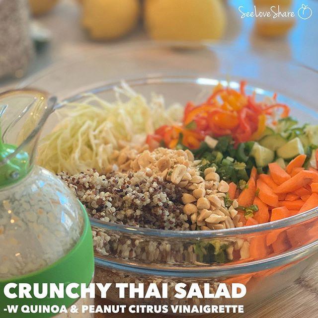 Crunchy Thai Salad with Quinoa and Peanut Citrus Vinaigrette