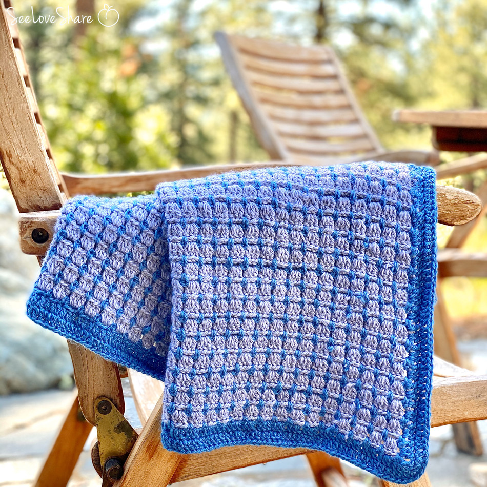 Block Stitch Lap Blanket