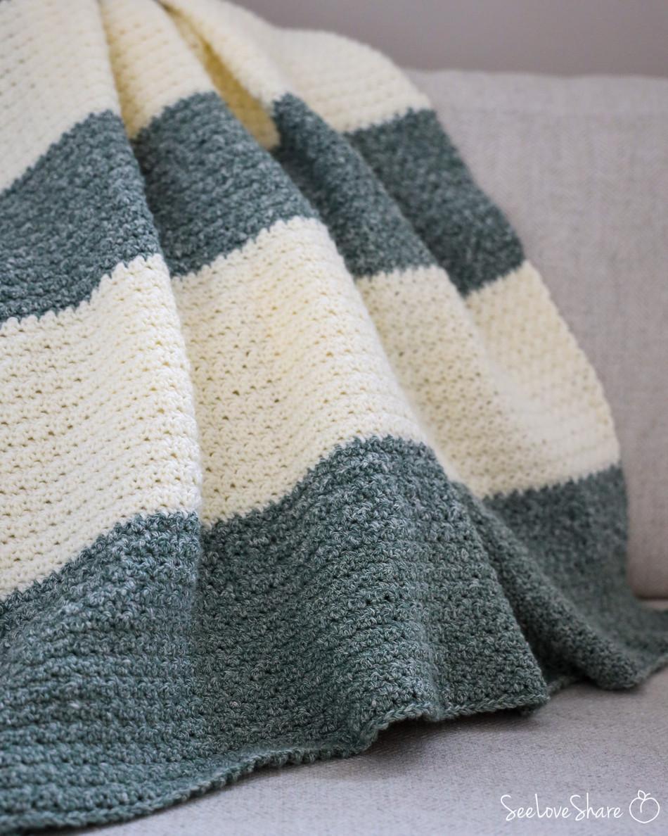 Textured Sweetie Baby Blankie - Free Crochet Pattern