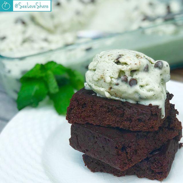 Health-ified Mint-Chip Ice-Cream Brownie