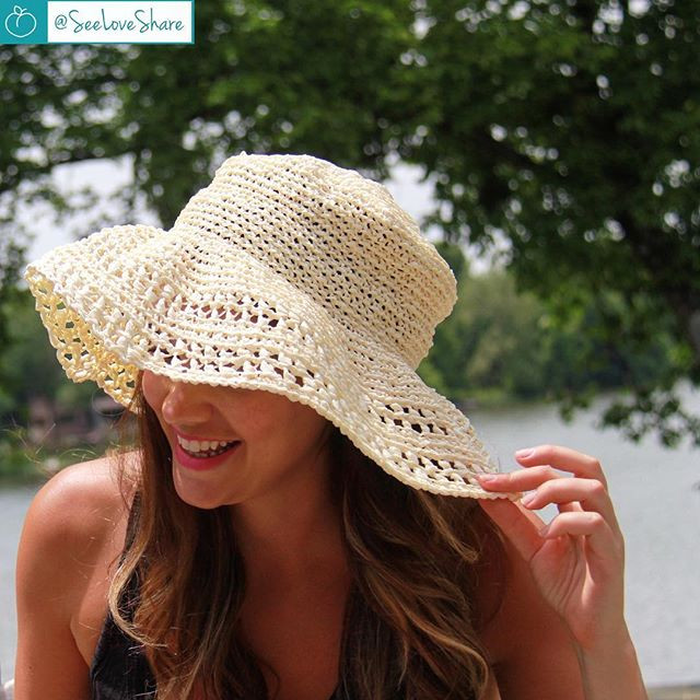 Crochet Floppy Sun Hat