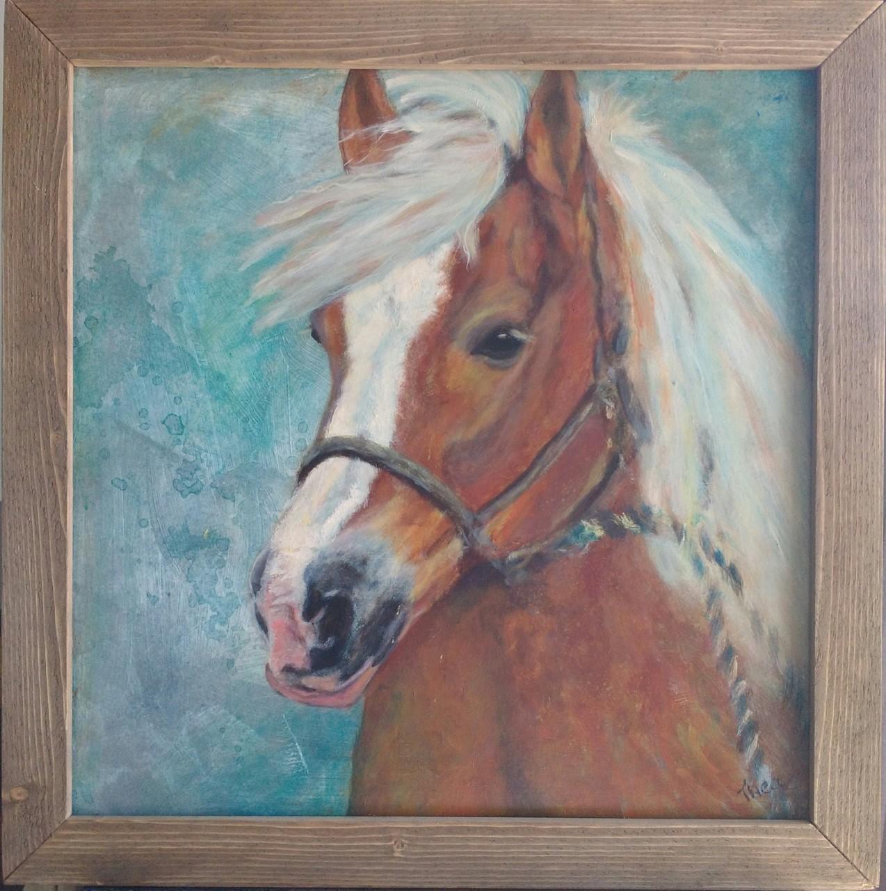 Haflinger paard.