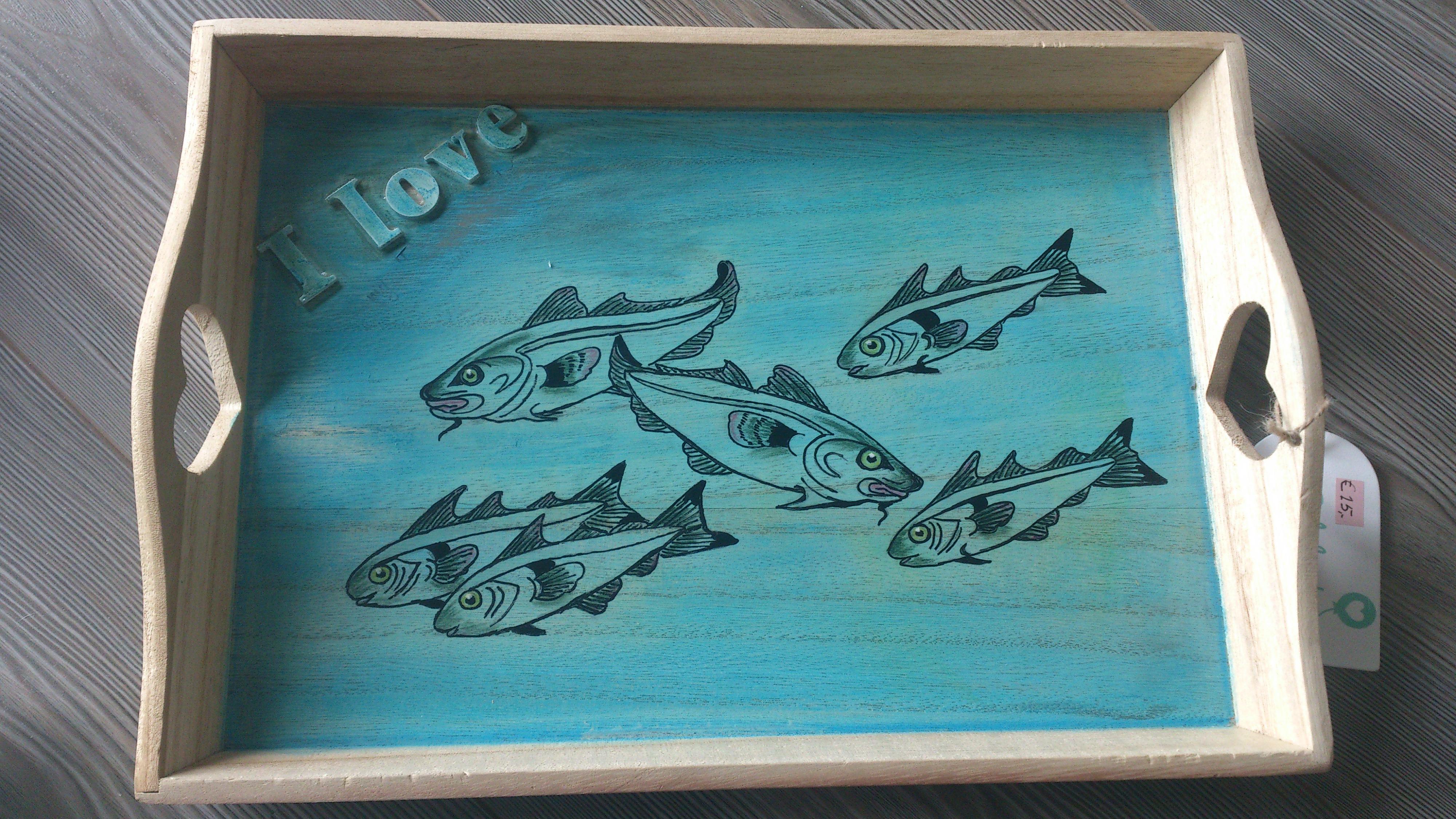 Dienbladje met visjes