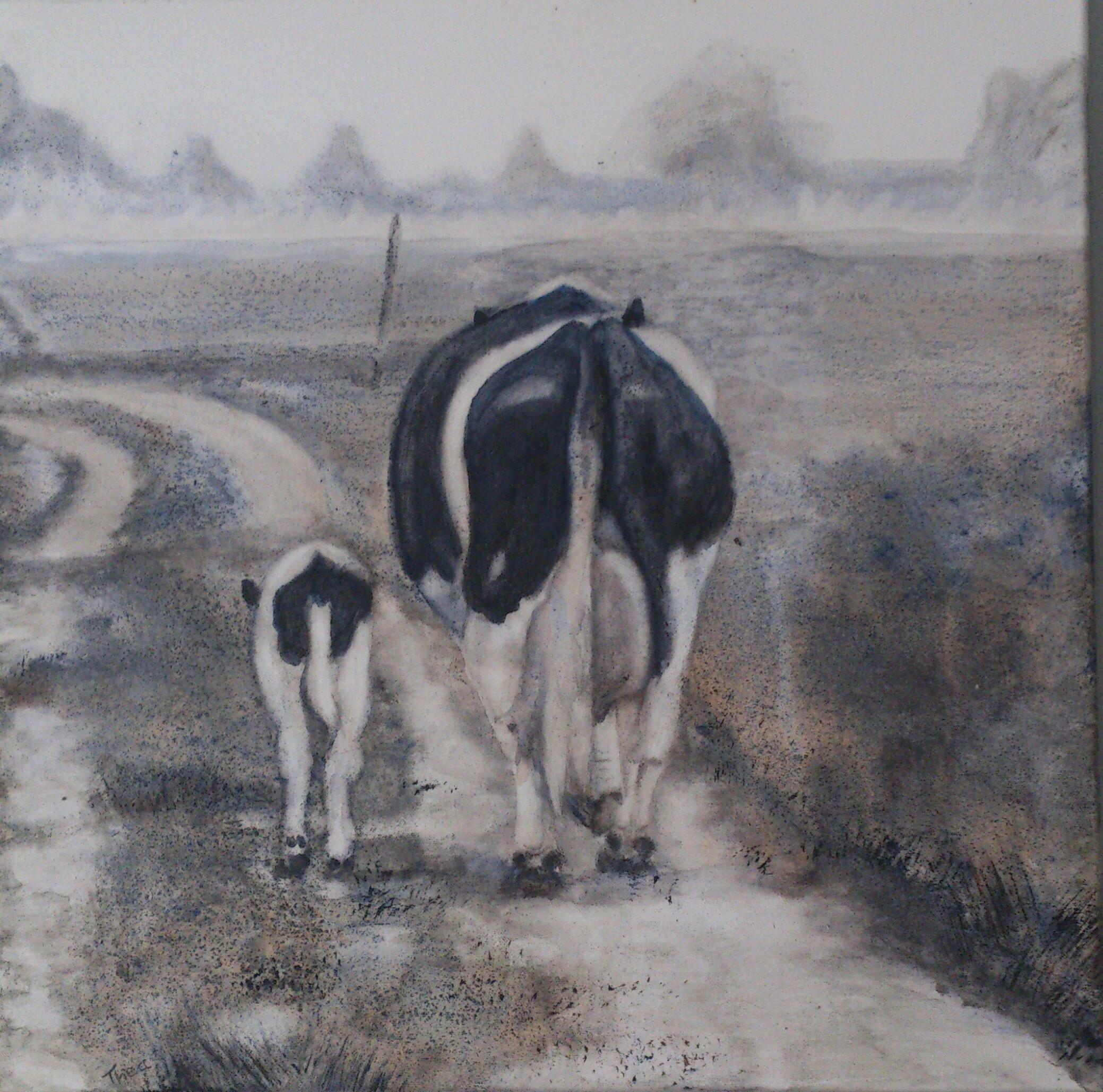 Koe met kalfje