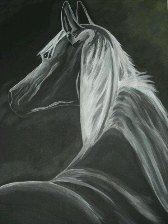 Paard bij maanlicht