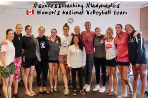 Coach Charina & the Canadian Women's Volleyball Team