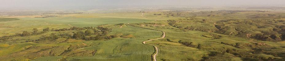 תמונת אופק   של שדות בנגב המערבי