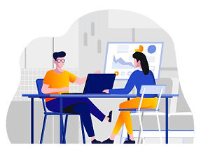 איור של עולם העבודה הדיגיטלי