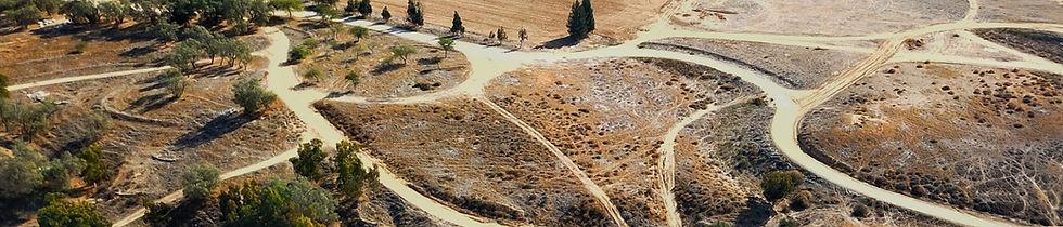 תמונת על של שדות בנגב המערבי