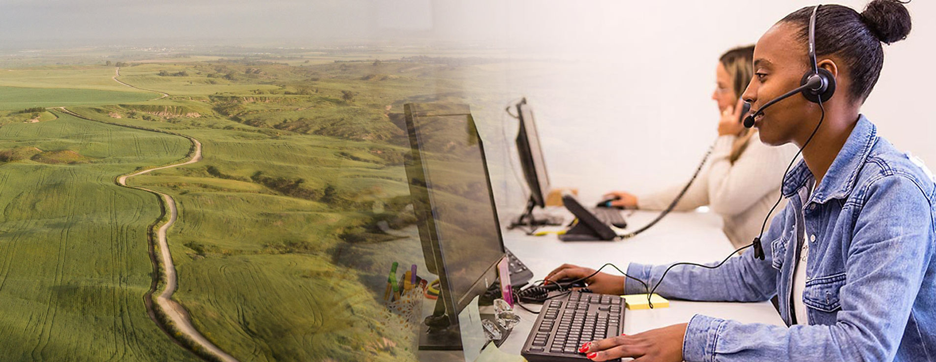 תמונה של מוקדניות בנגב 19 על רקע של שדות הנגב המערבי