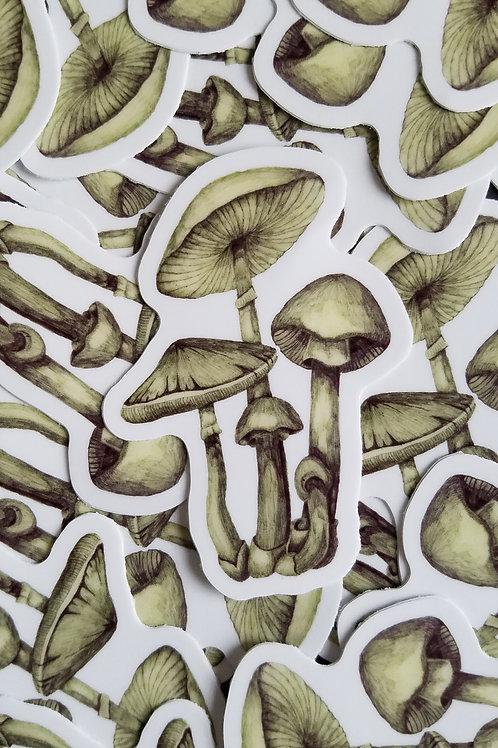 Mushroom Vinyl Sticker