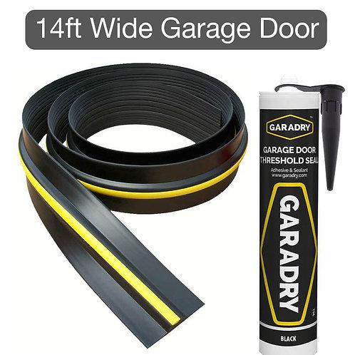 Weatherbar for 14ft Wide Garage Door (15mm High)