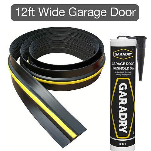 Weatherbar for 12ft Wide Garage Door (15mm High)
