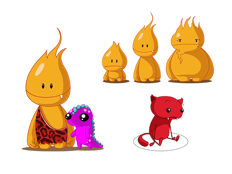 Creatures - Flammu and Punicie.png