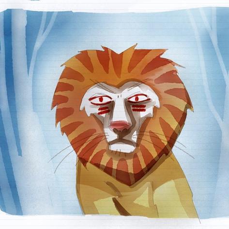 Awkward Lion