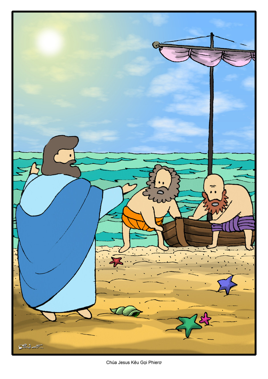 Christ and Peter Coloring Pages - Part 1