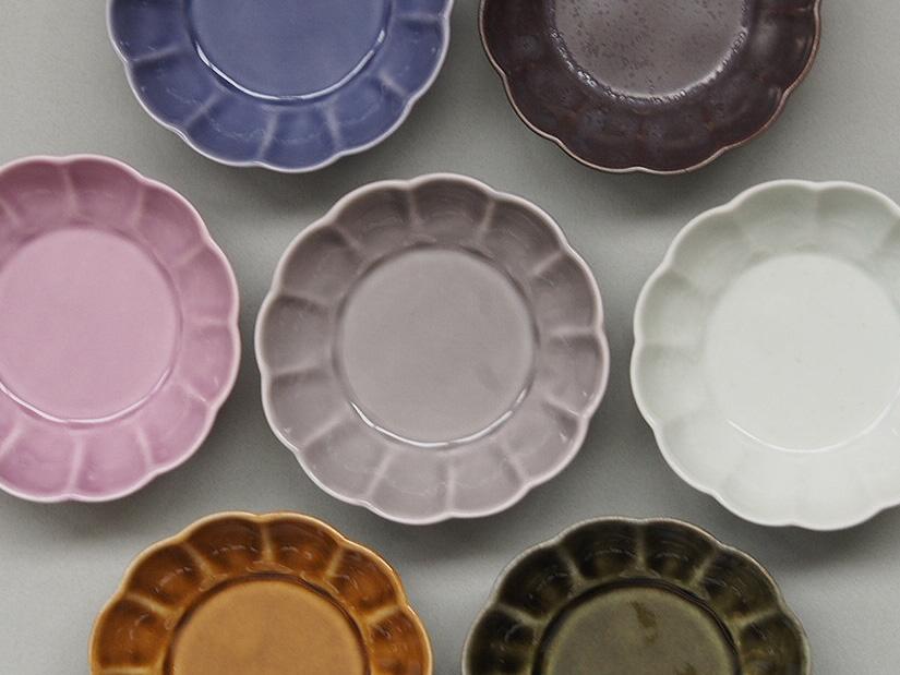 フラワー小皿 (7色)