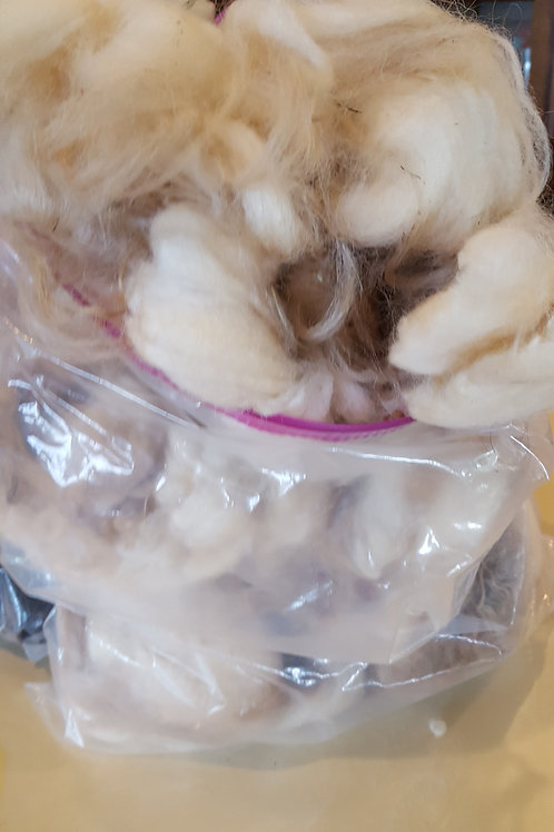 Raw Fleece 1# Icelandic Cream