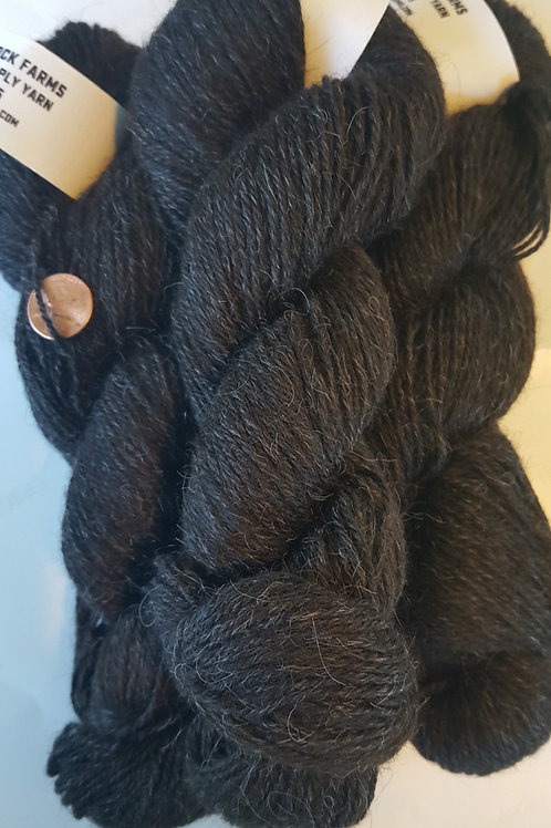 "Icelandic 3 Ply Yarn ""Astrid"" Black Coffee"