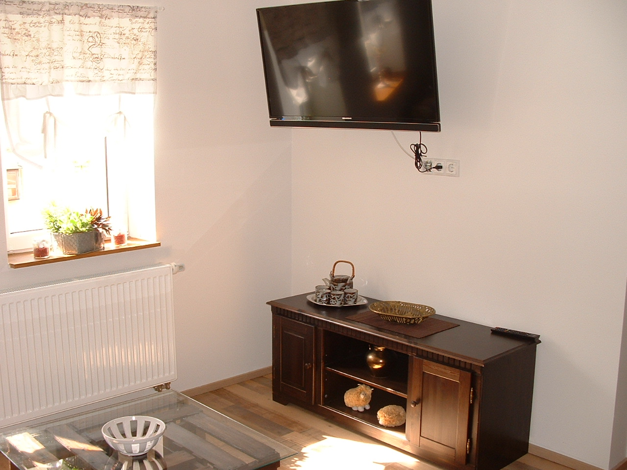 TV-Flachbildschirm mit Phonoboard