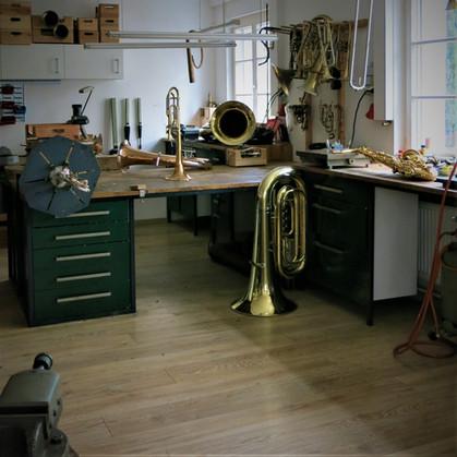 Meisterwerkstatt für Blasinstrumente in Stuttgart. Neubau, Sonderanfertigung und Umbau von Trompete, Kornett, Flügelhorn, Posaune, Horn Eufonium und Tuba.