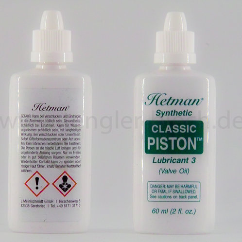 Trompetenöl Classic Piston Hetman synthetic Lub. 3