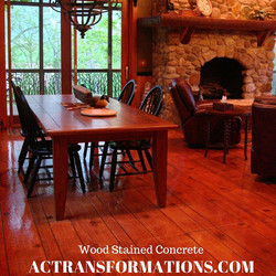 Wood Stained Concrete