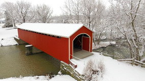 Mull Covered Bridge, CR 9 in Fremont