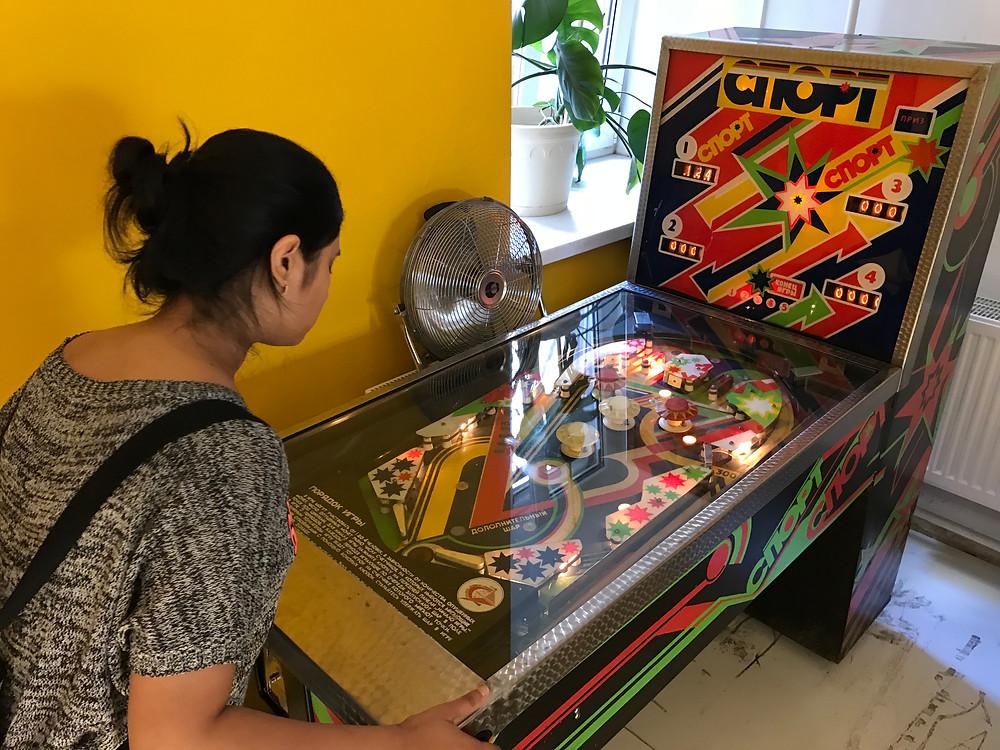 Pinball Machine at the Museum of Soviet Arcade Machines