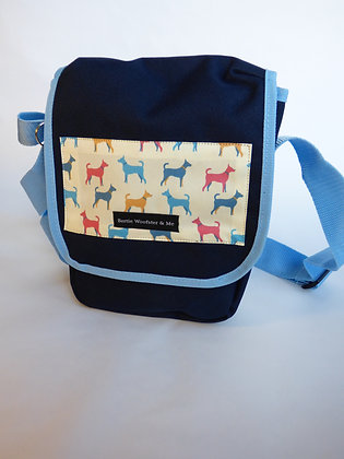 Sky and Navy Blue - Multicolour Dogs design