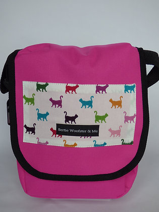 Bright Pink - Multicoloured Cat Design