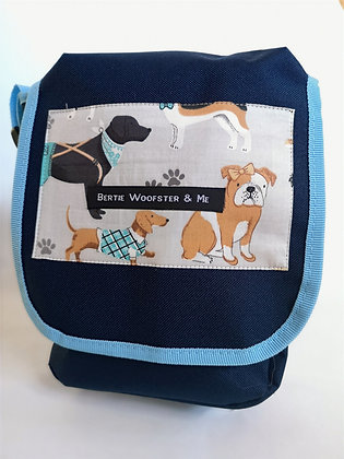 Sky and Navy Blue - Dog and Paw Design