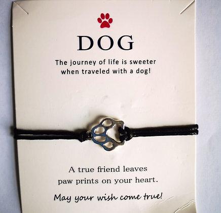 Dog Wish Bracelet - Black