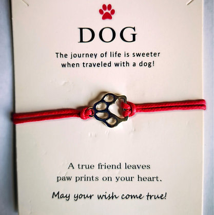 Dog Wish Bracelet - Pink