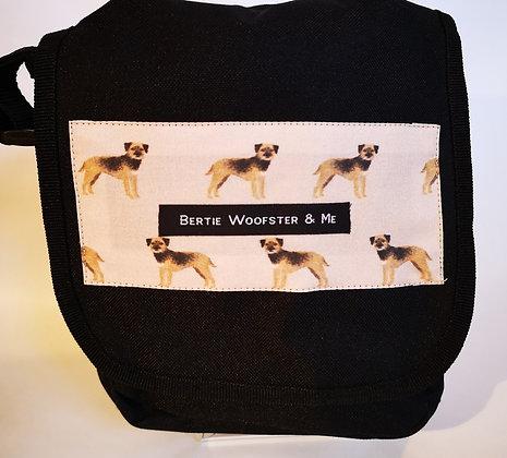 Black - Border terrier fabric