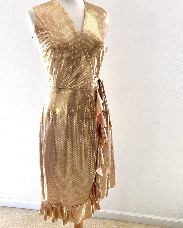 Golden Girl Wrap with ruffles
