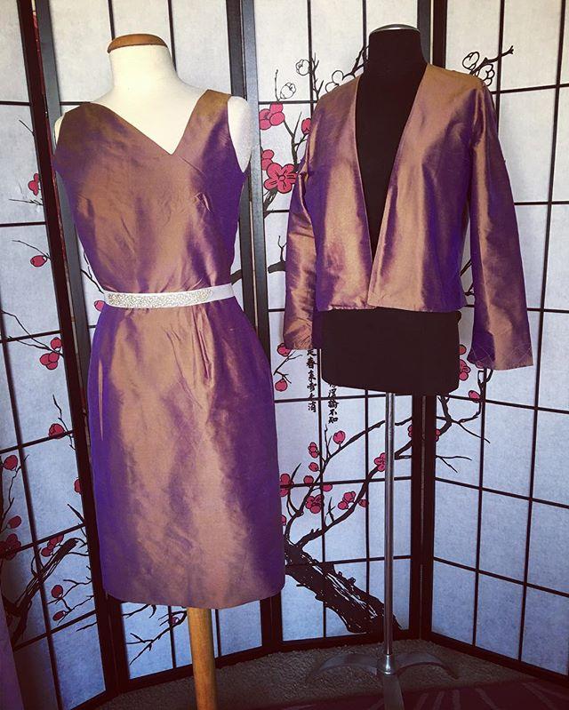 Raw Silk Dress Suit